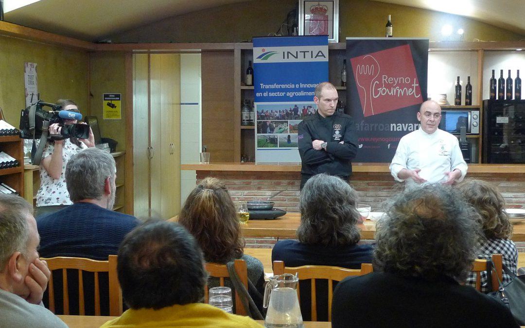 Los cocineros Koldo Rodero y Luismi Lacar presentaron la Vaca Betizu a profesionales de la hostelería de Navarra