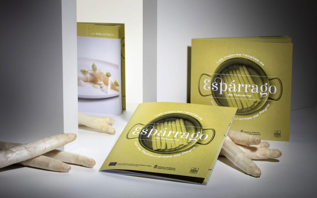 Espárrago de Navarra edita un recetario de la mano de los Restaurantes del Reyno